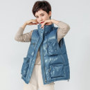 Vest Winter 2020 blue S, M have cash less than that is registered in the accounts stand collar commute Solid color zipper WXC0142-8 I-shaped 35-39 years old 96% and above nylon More than 90% white duck down