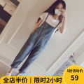 Women's large Spring of 2019 Blue suit [explosive money / chubby girl wear / tea break net red / Hepburn style / Europe / America / salt / sweet / big chest / small / sweet / temperament / spring and autumn tide] Dress singleton  Sweet easy thickening Conjoined other Three dimensional cutting JLFS851