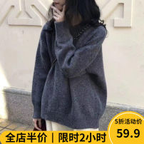 Women's large Winter 2020 sweater singleton  Sweet easy thickening Socket Long sleeves Solid color Crew neck routine A11 - 27JX870 Beauty mark 18-24 years old Polyacrylonitrile fiber (acrylic fiber) 50% polyester fiber 30% polyamide fiber (polyamide fiber) 20% Pure e-commerce (online only)