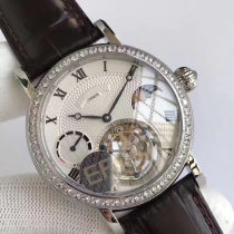 Wristwatch Other / other Shop warranty Mechanical movement male genuine leather domestic 3ATM Fine steel Synthetic sapphire watch mirror 13mm 42mm Rose Gold Silver Diamond Rose Gold Diamond Silver 500 35 circular fashion Pointer type brand new Pin buckle To the bottom ordinary other