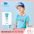 T-shirt White blue Les enfants 110cm / 4 years old 120cm / 6 years old 130cm / 8 years old male summer Short sleeve Lapel and pointed collar college nothing cotton other Cotton 93.8% polyurethane elastic fiber (spandex) 6.2% A2E2010213 Spring 2021 Four, five, six, seven, eight