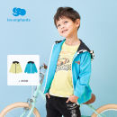 Plain coat Les enfants male 80/1Y,90/2Y,100/3Y,110/4Y,120/6Y,130/8Y Blue, light mustard spring and autumn college Zipper shirt There are models in the real shooting routine No detachable cap other cotton Hood A2E1010704 Other 100% Spring 2021