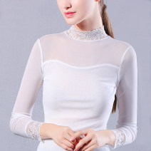 Lace / Chiffon Spring 2017 White, black, black 117 M,L,XL Long sleeves Versatile Socket singleton  Self cultivation have cash less than that is registered in the accounts Crew neck Solid color routine 25-29 years old Other / other nine thousand one hundred and sixty-three Mesh, stitching