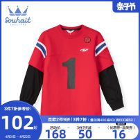 Sweater / sweater Souhait / water boy Coral red male 105cm 110cm 120cm 130cm 140cm 150cm 160cm 170cm spring and autumn nothing leisure time Socket cotton other Cotton 94% polyurethane elastic fiber (spandex) 6% Class B Cotton liner Spring 2021