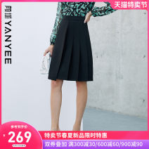 skirt Summer 2021 S M L XL XXL Black [pre-sale 04.20] yellow [pre-sale 04.28] Short skirt commute Natural waist Solid color Type A 35-39 years old 10P1I0301 91% (inclusive) - 95% (inclusive) Yan Yu Viscose zipper lady Viscose (viscose) 91.7% polyester 8.3%