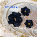Pearl / diamond / flower and other accessories other One small, medium and large, one black small (4.5cm), one black medium (5.5cm) and one black large (8cm) Gc277 Satin