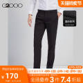 Western-style trousers G2000 Business gentleman 28 / 160 29 / 165 30 / 165 31 / 170 32 / 170 33 / 175 34 / 175 36 / 180 38 / 185 other pants length (contact customer service) trousers Polyester 65% viscose 35% Slim fit autumn go to work youth Business Formal  Fall 2017 Solid color