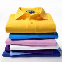 T-shirt 819 Couples dress Basic public routine Solid color Youth fashion standard Short sleeve routine daily City focus Lapel summer cotton Customization / DIY Non brand 80% (inclusive) - 89% (inclusive) Bead mesh 2017 S,M,L,XL,2XL,3XL,4XL