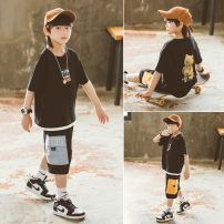 T-shirt Light blue black Babybody 120cm 130cm 140cm 150cm 160cm 170cm male summer Short sleeve Korean version There are models in the real shooting nothing other other Other 100% X21227T Class B Summer 2021 Chinese Mainland Zhejiang Province Huzhou City