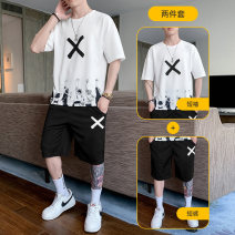 T-shirt Youth fashion 1954 gray, 1954 white, 1954 yellow, 1954 black, 8628 white, 8628 black, 8628 yellow, 8628 khaki, 9821 white, 9821 black, 9821 gray, 9821 Khaki routine M,L,XL,2XL,3XL Dupson Short sleeve Crew neck easy daily summer A115-1954 teenagers routine tide 2021 3D effect Fashion brand