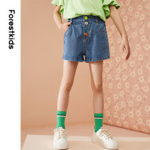 trousers Forest kids female 110cm 120cm 130cm 140cm 150cm 160cm 170cm Blue love shorts summer shorts leisure time Jeans Button middle-waisted cotton Don't open the crotch Cotton 85% others 15% FGZDP2921 Class C shorts Summer 2021 Six, seven, eight, nine, ten, eleven, twelve Chinese Mainland Hangzhou