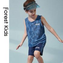suit Forest kids Blue tz158 blue short sleeve tz165 camouflage blue tz158 + pink tz349 blue short sleeve tz165 + pink tz349 blue tz158 + blue short sleeve tz165 sky blue short sleeve suit 2031 sky blue sleeveless suit 2879 110cm 120cm 130cm 140cm 150cm 160cm 170cm male summer motion 2 pieces Socket