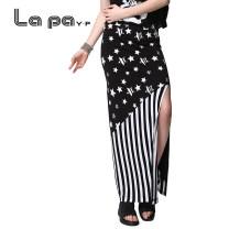 skirt Summer 2017 XS S M L XL Decor longuette street Natural waist Splicing style stripe Type H 18-24 years old Y282929 91% (inclusive) - 95% (inclusive) other La paY-P Viscose Patchwork printing Viscose fiber (viscose fiber) 95.4% polyurethane elastic fiber (spandex) 4.6% Sports & Leisure