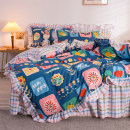Bedding Set / four piece set / multi piece set Polyester (polyester fiber) Quilting, other Cartoon animation other Other / other Polyester (polyester fiber) 4 pieces other Bed sheet, bed skirt Qualified products Cartoon style twill Reactive Print  Thermal storage other