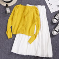 Fashion suit Spring 2021 Average size White [skirt], yellow [top] 18-25 years old Other / other W14 81% (inclusive) - 90% (inclusive)