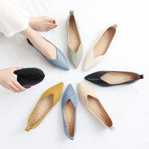 Low top shoes 35,36,37,38,39 Other / other 999-25 Suede Black, 999-25 suede blue, 999-25 suede yellow, 999-25 suede apricot, 999-33 Suede Black, 999-33 suede blue, 999-33 suede green, 999-33 suede apricot Sharp point Superfine fiber Flat bottom Flat heel (1cm or less) Shallow mouth Superfine fiber
