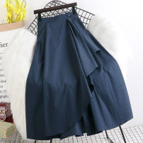 skirt Spring 2021 Average size White, black, navy Mid length dress Versatile High waist A-line skirt Solid color Type A W622 More than 95% other Other / other other Splicing 201g / m ^ 2 (including) - 250G / m ^ 2 (including)