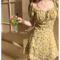 Dress Summer 2020 S,M,L,XL,2XL Short skirt singleton  Short sleeve commute other High waist Decor Socket A-line skirt puff sleeve Others 18-24 years old Type A Other / other other polyester fiber