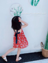 Dress Imperial fish female Cotton 95% other 5% summer Korean version Skirt / vest Broken flowers cotton A-line skirt K18671