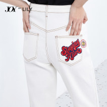 Jeans Spring 2021 601 white 601 white a XS S M L XL Ninth pants High waist Pencil pants routine 25-29 years old washing Cotton elastic denim light colour 121129GJ905601 Lily / Lily Cotton 99.1% polyurethane elastic fiber (spandex) 0.9% Same model in shopping mall (sold online and offline)