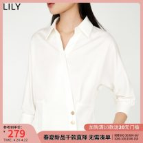 Lace / Chiffon Spring 2021 601 white 601 white a XS S M L XL Long sleeves commute Socket singleton  Self cultivation have cash less than that is registered in the accounts Polo collar Solid color routine 25-29 years old Lily / Lily 121110C8002 Button Ol style Cotton 100% cotton