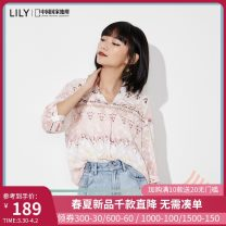 shirt 120 light powder 120 light powder a 150/76A/XS 155/80A/S 160/84A/M 165/88A/L 170/92A/XL Summer 2020 polyester fiber 96% and above elbow sleeve commute Regular V-neck Socket routine Broken flowers 25-29 years old Straight cylinder Lily / Lily Ol style 120249C8E45120 printing Polyester 100%