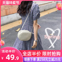 Women's large Summer 2020 S M L XL 2XL 3XL 4XL Dress singleton  Sweet easy moderate Socket Short sleeve Broken flowers V-neck routine Grass seed wood clothes 18-24 years old Short skirt Other polyester 95% 5% Pure e-commerce (online only) solar system