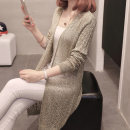 Wool knitwear Spring of 2018 S M L XL Long sleeves singleton  Cardigan other More than 95% Medium length Thin money commute easy V-neck routine Solid color Korean version Princess love Jacquard Crochet hollow out Other 100% Pure e-commerce (online only)