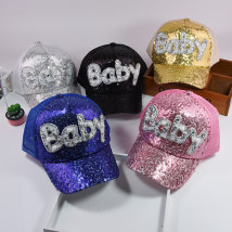 Hat Average size Baby Pink Baby silver white baby black baby sapphire blue baby gold 2-7 years old 48-52cm adult-54-58cm neutral peaked cap dome Travel Other / other Lengthening eaves blending six million six hundred and six thousand and twenty-six