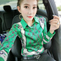shirt 3100-9 green, 3100-10 black and white, 3100-3 decor, 3100-1--, 3100-5--, 3100-8--, 3100-2--, 3100-25--, 3100-27--, 3100-6 M,L,XL,2XL Spring 2020 Vinylon 81% (inclusive) - 90% (inclusive) Long sleeves street Regular Polo collar routine Self cultivation Stitching, printing Europe and America