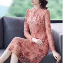 Dress Summer 2021 Picture color M L XL 2XL 3XL 4XL longuette singleton  Long sleeves commute stand collar middle-waisted Decor Socket A-line skirt routine 35-39 years old Type A Youranxu / youranxuan Retro printing 9531-1 More than 95% other Other 100% Pure e-commerce (online only)