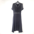 Dress Spring 2021 black 175/96A Mid length dress singleton  Short sleeve commute Crew neck High waist puff sleeve Others Type A Other / other lady 51% (inclusive) - 70% (inclusive) Chiffon