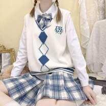 skirt Winter 2020 XS,S,M,L,XL,2XL Middle-skirt High waist A-line skirt lattice Type A E10Bo  10021994704721 cotton
