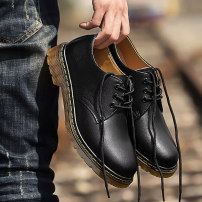 Low top shoes Black, dark brown, cherry red, 1717 black 35,36,37,38,39,40,41,42,43,44,45 Other / other Double skin (except cattle suede) Frenulum Round head Casual shoes Sheepskin leisure time Sports & Leisure Solid color Flat heel spring and autumn genuine leather wear-resisting Adhesive shoes PU