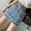 skirt Summer 2020 S,M,L,XL Light blue, black gray commute 18-24 years old Korean version