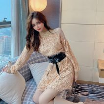 Dress Autumn 2020 White, gold, black Average size Short skirt singleton  Long sleeves commute other other Others 18-24 years old Type A Korean version eleven point two one 30% and below