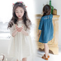 Dress Apricot, blue female Other / other 100cm,110cm,120cm,130cm,140cm,150cm,160cm Cotton 97% other 3% summer Korean version Short sleeve Solid color cotton A-line skirt Class B 8, 2, 3, 4, 5, 6, 7, 9, 10, 11, 12, 13, 14
