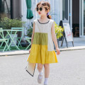Dress yellow female Keninke 110cm,120cm,130cm,140cm,150cm,160cm,170cm Cotton 95% other 5% summer Korean version Skirt / vest Solid color cotton A-line skirt Class B Chinese Mainland