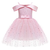 Children's dress Red, pink, dark blue female 100cm,110cm,120cm,130cm,140cm,150cm Keninke full dress Class B Cotton 30% other 70% 18 months, 2 years old, 3 years old, 4 years old, 5 years old, 6 years old, 7 years old, 8 years old, 9 years old, 10 years old, 11 years old, 12 years old princess