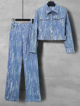 Fashion suit Spring 2021 S,M,L,XL,2XL Blue (two piece set) Over 35 years old 27430A