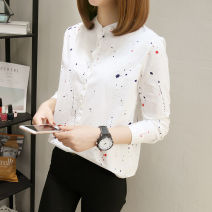 shirt S M L XL Spring of 2018 cotton 96% and above Long sleeves commute Regular stand collar Single row multi button routine other 18-24 years old Self cultivation Weiwei Korean version Button Cotton 100% Pure e-commerce (online only)