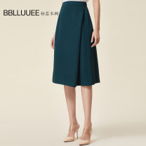 skirt Summer of 2019 155/36/S 160/38/M 165/40/L 170/42/XL 175/44/XXL Dark green white Middle-skirt commute High waist A-line skirt Solid color Type A 30-34 years old 982Q115. More than 95% Bblluuee / pink and blue wardrobe polyester fiber Simplicity Polyester 100%