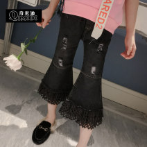 trousers Other / other female Blue, black spring and autumn Ninth pants There are models in the real shooting Jeans Leather belt middle-waisted Cotton elastic denim Don't open the crotch Class B