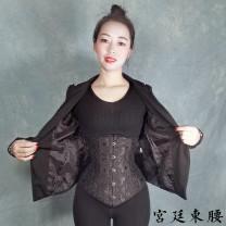 Body shaping waist cover / waist clip 16 steel rib white lace 3XL