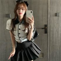 Fashion suit Summer 2020 Average size Jacket, skirt 18-25 years old 31% (inclusive) - 50% (inclusive) polyester fiber