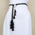 Belt / belt / chain Pu (artificial leather) Red, light gray, black, apricot, camel, off white female belt Versatile Single loop Youth, youth, middle age a hook bow Frosting 0.5cm alloy Naked, woven, tassel, bow, frosted, candy color, chain