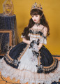 Lolita / soft girl / dress The wish of flower god Jsk, necklace, sleeve, waist chain, bow, beret, gloves S. M, l, XL, one size fits all No season goods in stock Classic, Lolita, retro