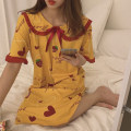 Pajamas / housewear set female Other / other M,L,XL Strawberry, ice cream, Kitty, giraffe other Short sleeve Sweet Leisure home summer Thin money Crew neck Plants and flowers Socket youth 2 pieces Less than 20% printing Middle-skirt