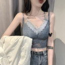 Vest sling Spring 2021 Black, blue, Grey Pink, beige Average size singleton  have cash less than that is registered in the accounts Self cultivation commute camisole 18-24 years old Lace N119