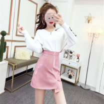 Fashion suit Autumn 2020 S,M,L White dress pink skirt, black dress pink skirt Other / other